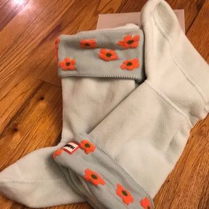 Hunter boot socks girls with floral cuff size L